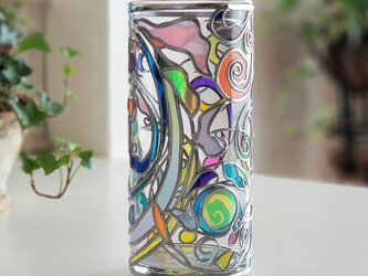 ラウンドガラス花瓶『ティンカーベル』の画像