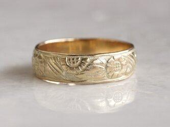 K18 Sunflower ring [R067K18]の画像