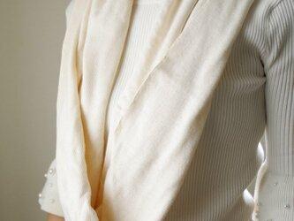 Organic Cotton ざっくりエアニットスヌード【生成り色】の画像
