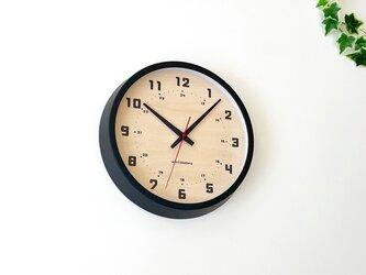 muku clock 8 ブラック km-81BRC 電波時計 連続秒針の画像