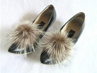 ¶ new antique fur ¶ シルバーフォックスファーシューズクリップの画像