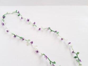 紫小花のネックレス(受注製作)の画像