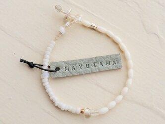 K様ご予約品 白サンゴ×フランスアンティークglassbracelet(shizuku) 「sold」の画像