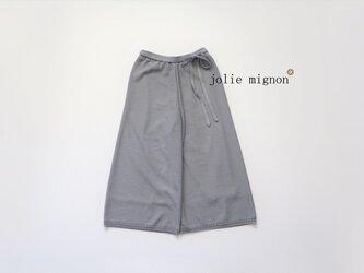 【38号完売】鹿の子編みニットワイドパンツ(グレー)【日本製】¥16800+税 の画像