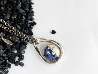 ビスクドロップ・シルバーチャーム blueの画像