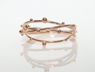 雫リング(pink gold)の画像
