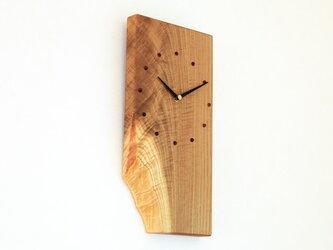 キハダの耳付き板の時計 2の画像