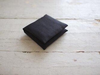 大人のリネンのサニタリーケース《ブラック》の画像