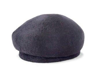 18世紀のヨーロッパで愛された、ビーバーベレートーク帽 ブラック(18AWN-001)の画像