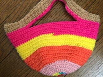 手編みのミニトートバッグ②の画像