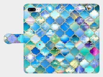 モロカンタイルパターン(千の空) iphone 6plus/7plus/8plus 専用 手帳型ケースの画像