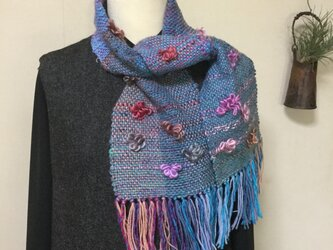 手織りマフラー  〔梅〕の画像