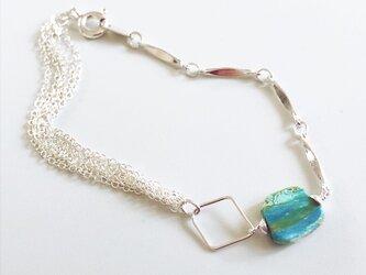 blueopal*silver braceletの画像