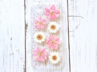 iPhoneケース ホワイトピンクの画像