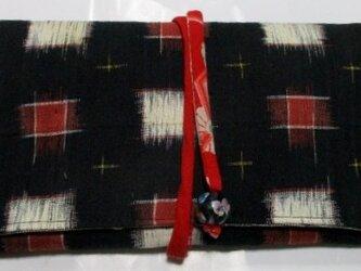 送料無料 紬で作った和風財布・ポーチ 3805の画像