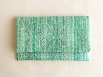 絹手染懐紙入れ(縦・薄緑系/渋緑系)の画像