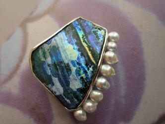 SV Roman Glass Pearl broochの画像