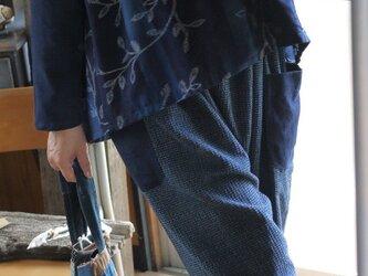 新反久留米絣2種のトップスの画像