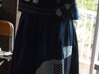 古布や久留米絣のパッチワークベストの画像
