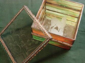 秋色の重ね箱の画像