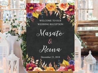 【Autumn Velvet】チョークボード風 ウェルカムボード 結婚式の画像
