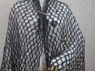 手編みの様な軽いリリアン編み多色マフラー*尾州編みの画像