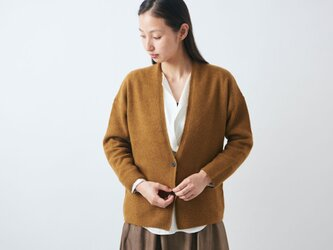 【sale】enrica cashmere&wool cardigan / mastardの画像