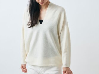【sale】enrica cashmere knit / naturalの画像
