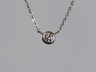 Round brilliant cut Diamond Necklace / K18YGの画像