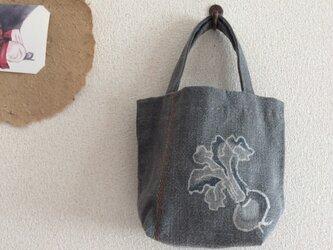 刺し子布バッグの画像