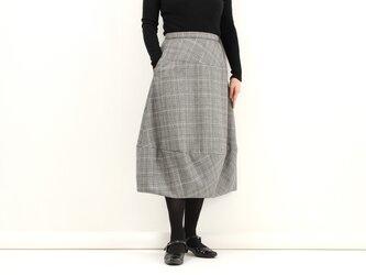 バルーンスカート(グレンチェック)#211の画像