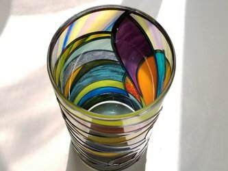 ガラスラウンド型花瓶『ティンカーベルの森』の画像