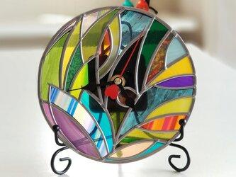 円形アクリル 掛け/置き兼用時計『ティンカーベルの森 ハート』の画像