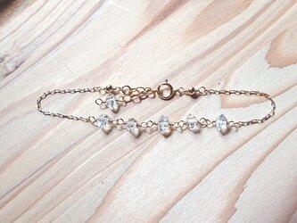 ハーキマーダイヤモンドブレスレット K14gfの画像