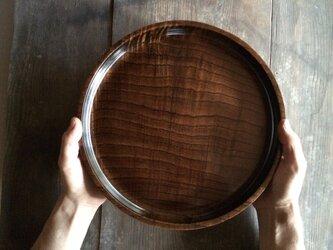 木と漆のお盆 栴檀 (bsd1)の画像