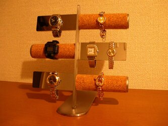 時計スタンド 12本掛けコルク&バー腕時計スタンドの画像