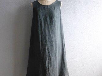 くじゃくの刺繍入りジャンバースカートの画像