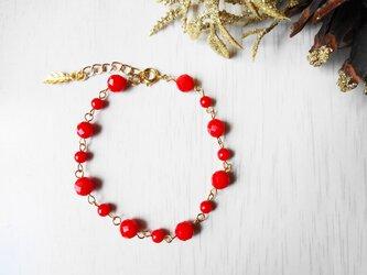 赤珊瑚ブレスレットの画像