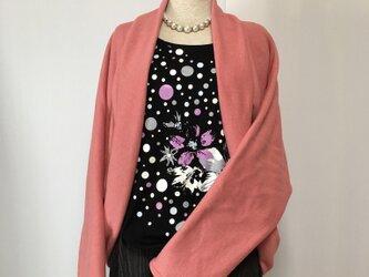 マーガレットボレロ  羽織りもの ラベンダーピンク ドルマンスリーブ ニットの画像