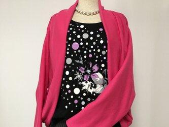 マーガレットボレロ  羽織りもの ローズピンク ドルマンスリーブ ニットの画像