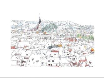 雪のチェスキークルムロフの画像