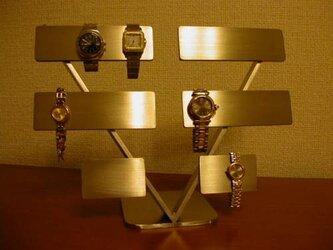 腕時計スタンド 10本掛けV支柱腕時計スタンド ヘアーラインの画像