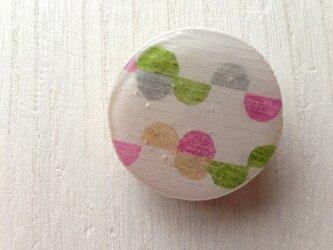 wood design brooch:half moonの画像