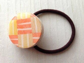 wood design hair elastic :ORの画像