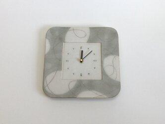 (大) スクエア掛け時計 パターン&ライン no.2の画像