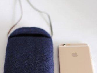 iPhoneポシェットcocoon(紺色)Lサイズの画像