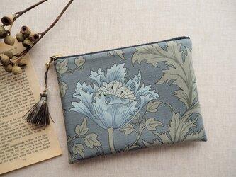 ウィリアム・モリス 18cmポーチ 「Anemone」 ライトブルーの画像