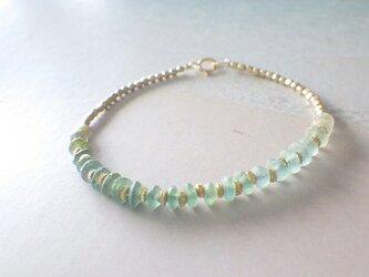 ☆再販☆Sea Roman Glass Bracelet *14kgf*の画像