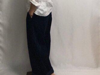 corduroy pants/dark blueの画像