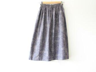 ☆グレーパープルシルク着物スカート☆/31ks12の画像